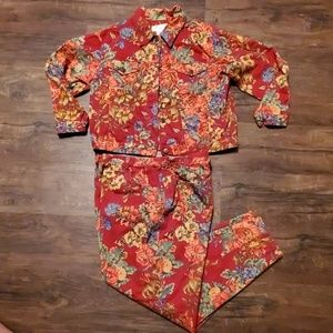 Susan Bristol Floral Denim Set